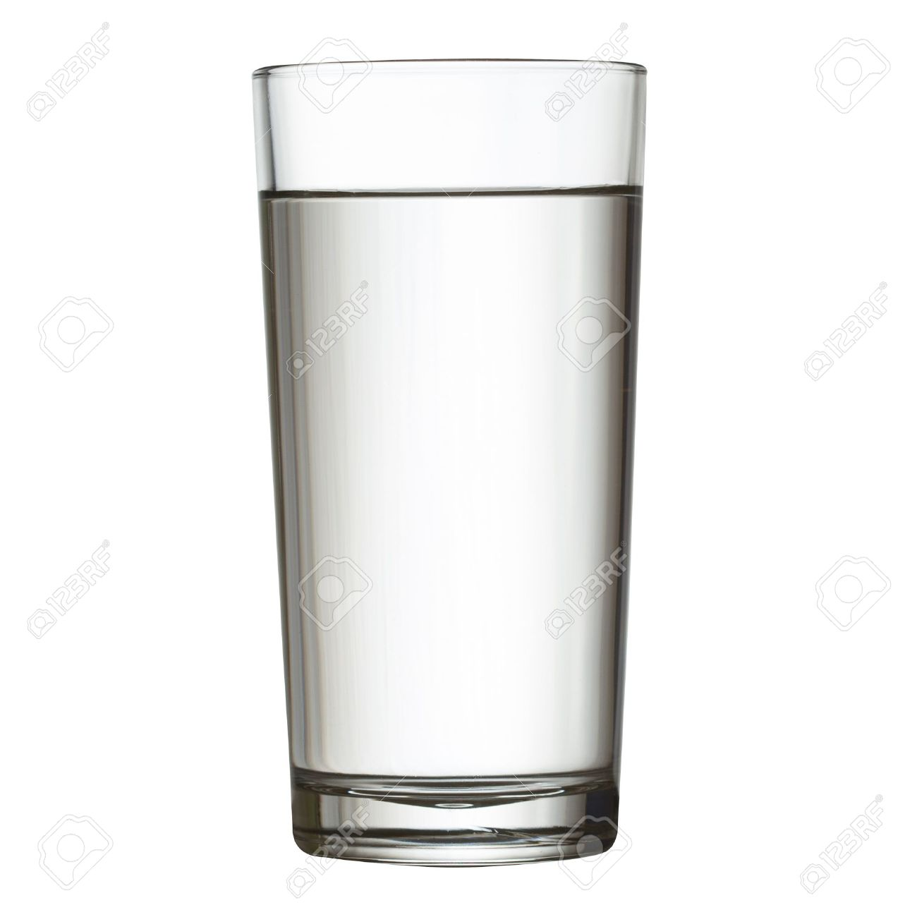 tall full glass of water isolated on white clipping path included Stock Photo - 17691644