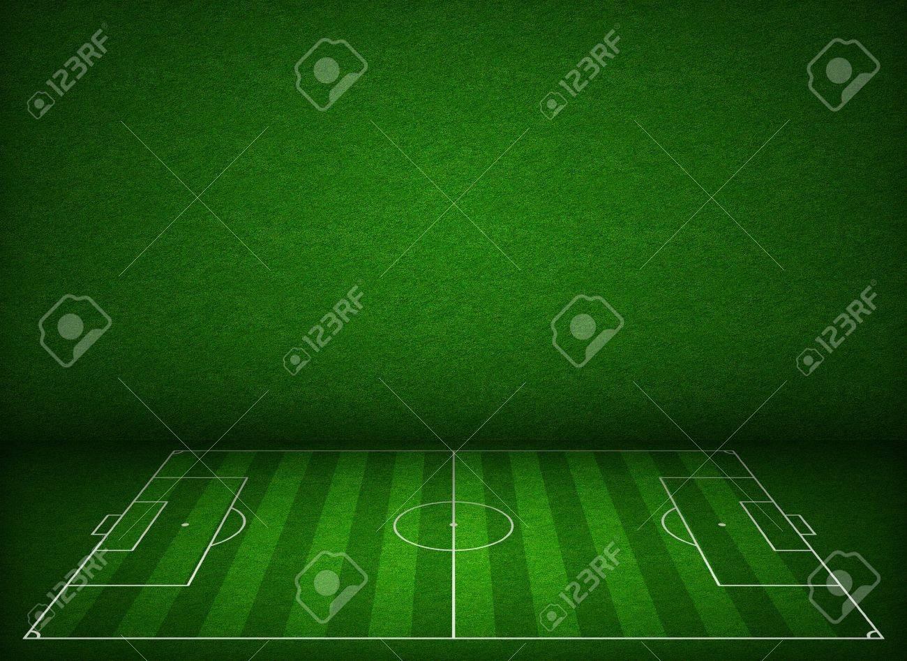 Soccer or football field or pitch side view with proper markings and proportions according standards Stock Photo - 17847912