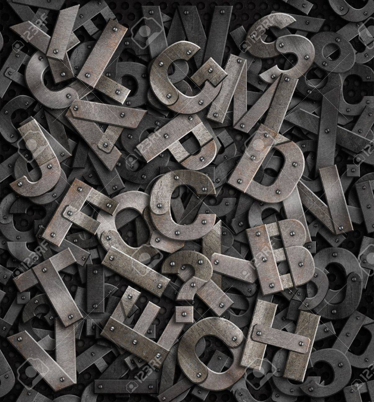 Old Metal Letters Amusing Heap Of Old Rusty Metal Letters Background Stock Photo Picture Review