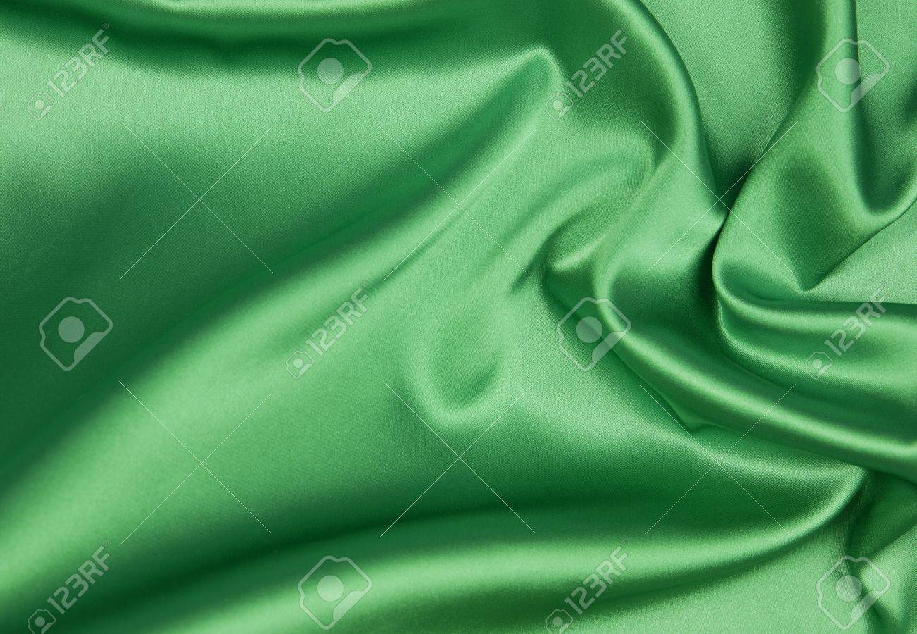 Emerald or green silk background Stock Photo - 18121511