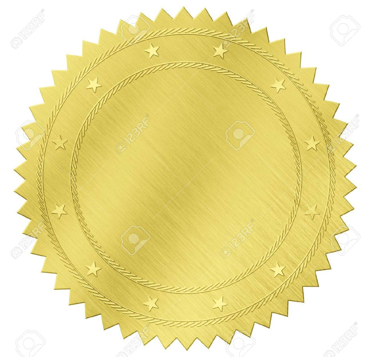 gold seal label with clipping path included Stock Photo - 18172571