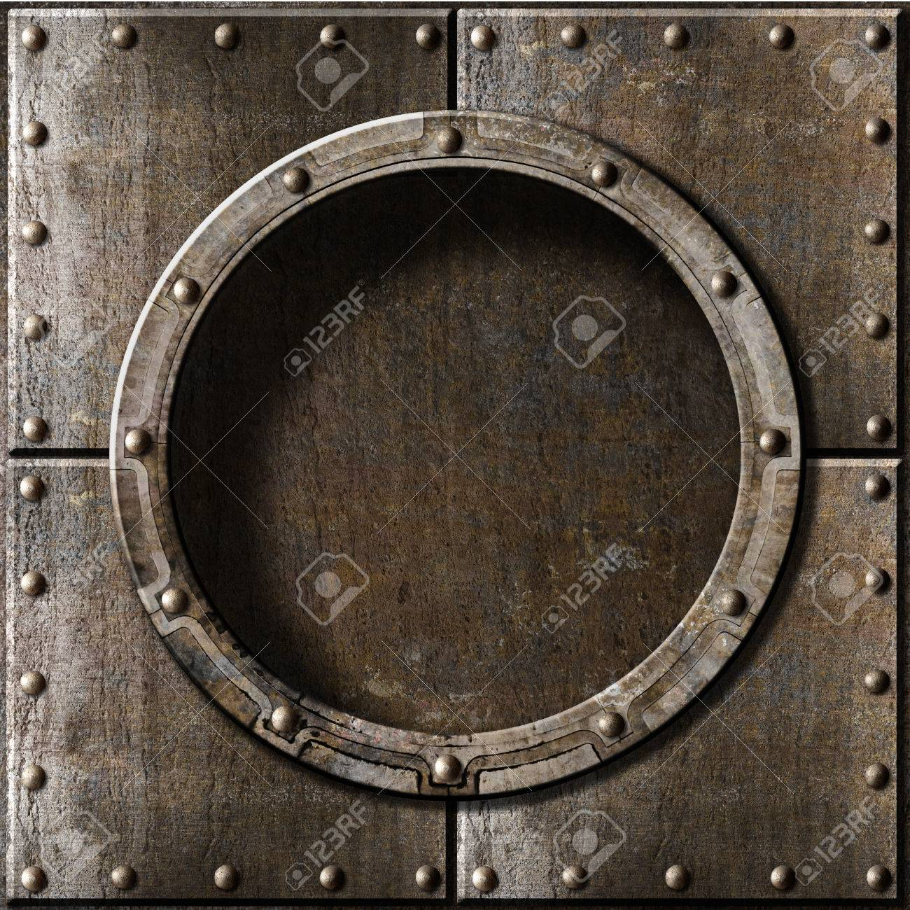 metal porthole background - 22558377
