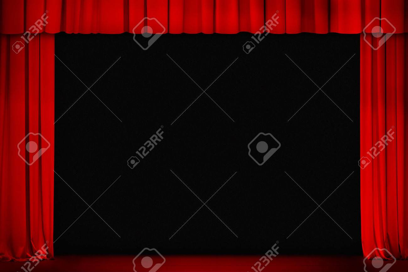 Open theater drapes or stage curtains royalty free stock image image - Red Curtain On Theater Or Cinema Stage Wide Open Stock Photo 22861134