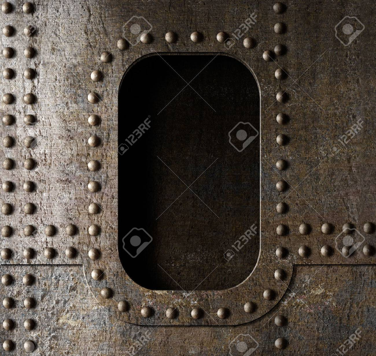old metal porthole background Stock Photo - 23121748