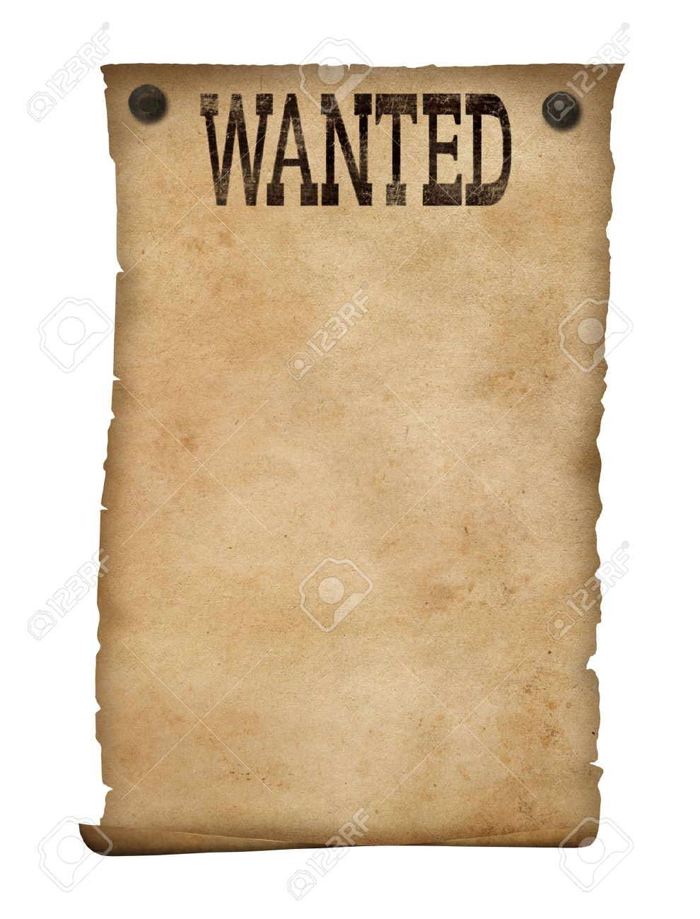 Wanted Poster Isolated Wild West Photo Picture And Royalty – Most Wanted Posters Templates