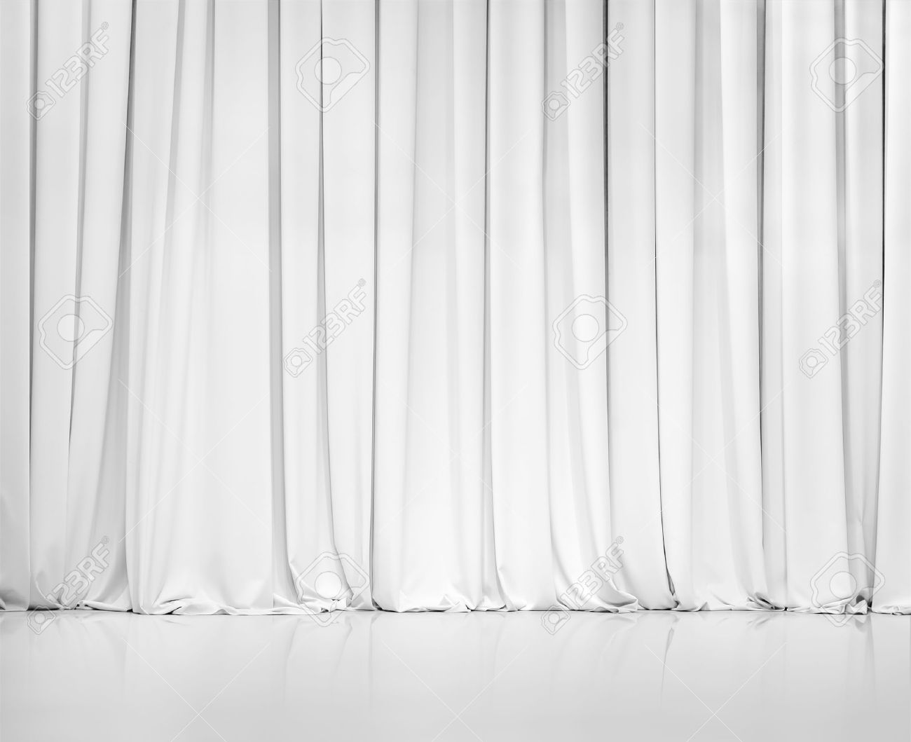 white curtain or drapes stock photo