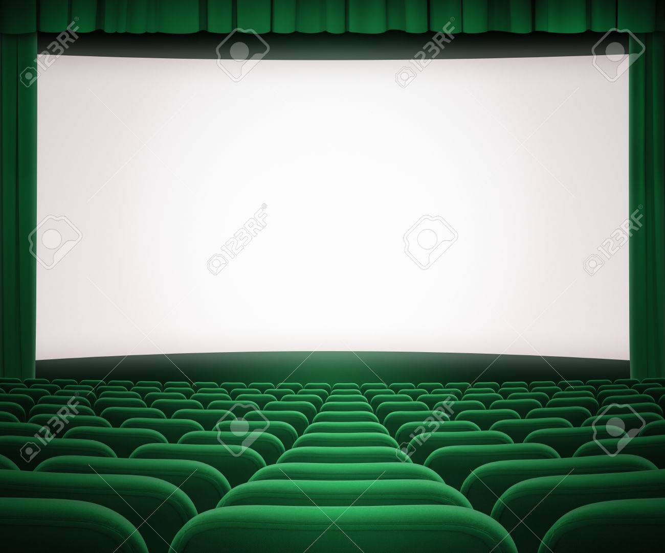 Green curtains crossword - Green Curtain Cinema Screen With Open Green Curtain And Seats