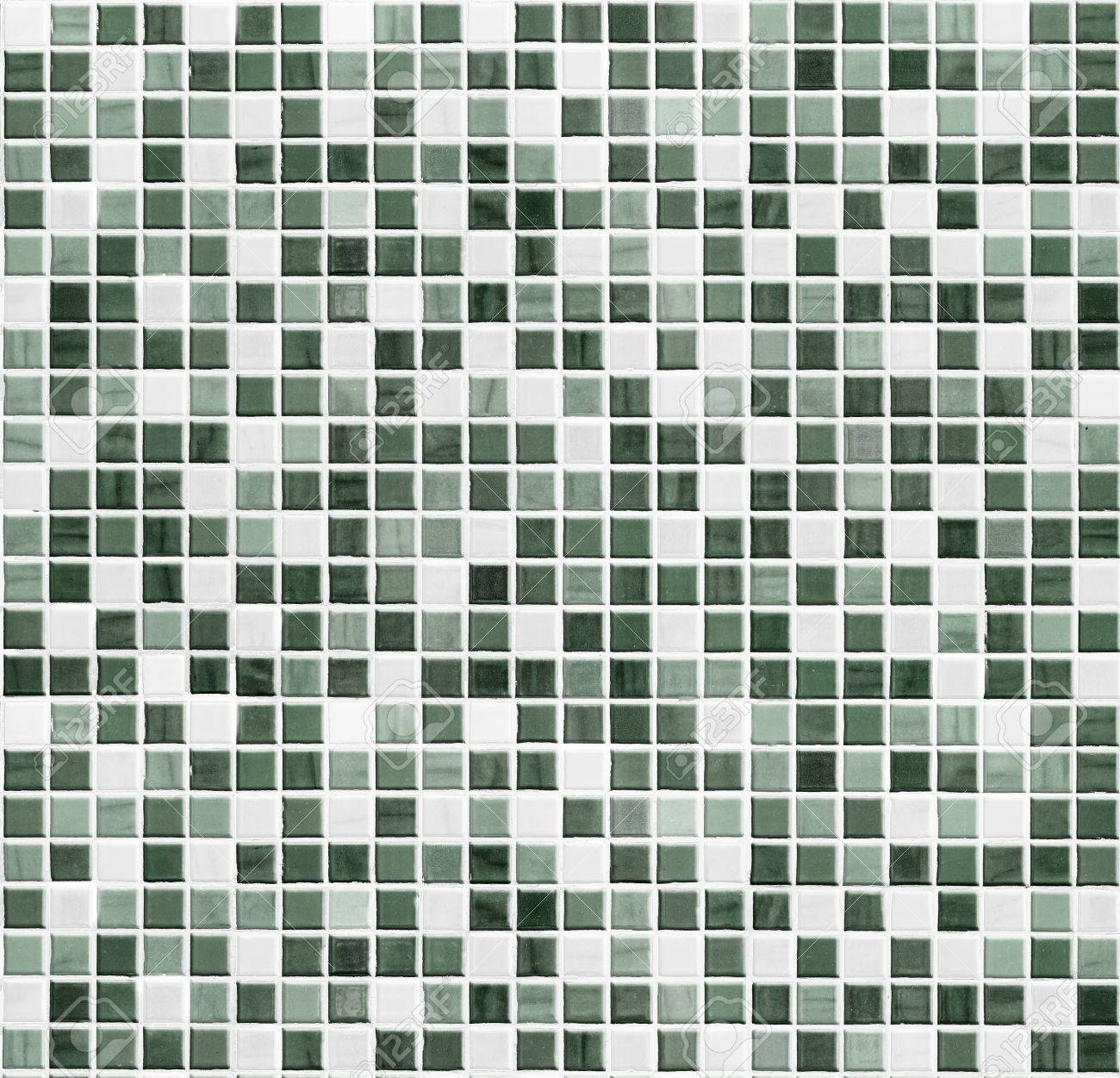 Green Tiled Bathroom, Kitchen Or Toilet Tile Wall Background Stock ...