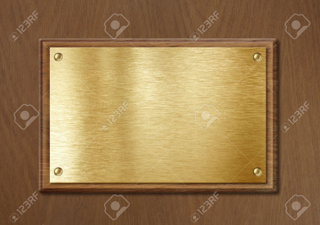 Placa De Oro O Latón Para Nameboard O Fondo De Diploma En Marco De ...