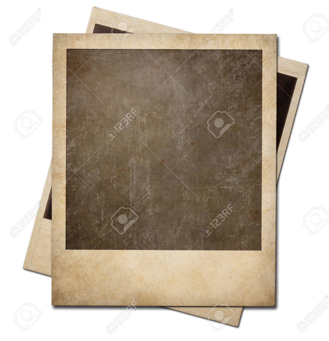 Grunge instant photo polaroid frames isolated. Clipping path without shadows is included. Stock Photo - 26755432