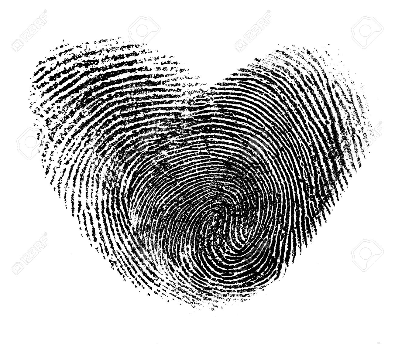 On Royalty Picture Isolated Photo Heart Free White And Image Image 26965386 Stock Fingerprint