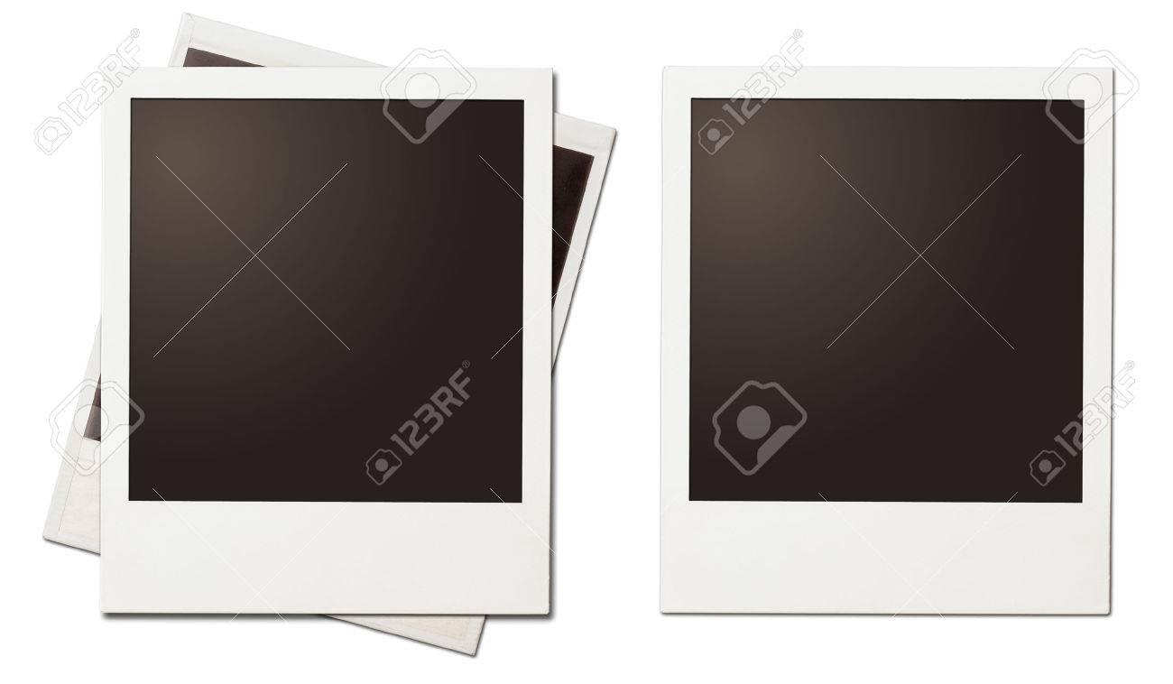 Retro-Instant-Foto Polaroid Rahmen Isoliert Auf Weiß Lizenzfreie ...
