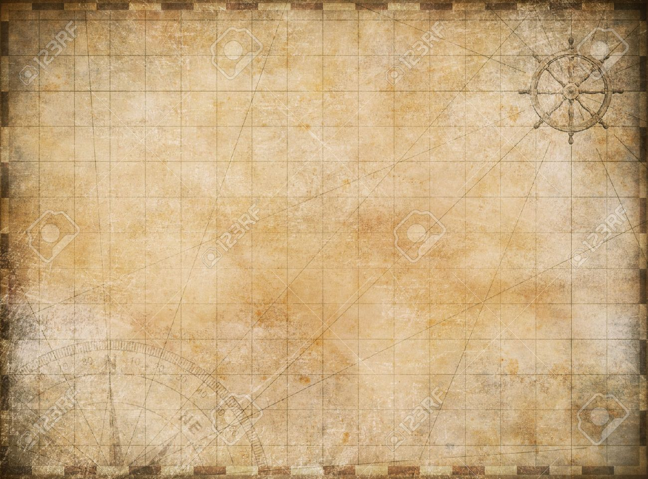 Old Map Exploration And Adventure Background Stock Photo