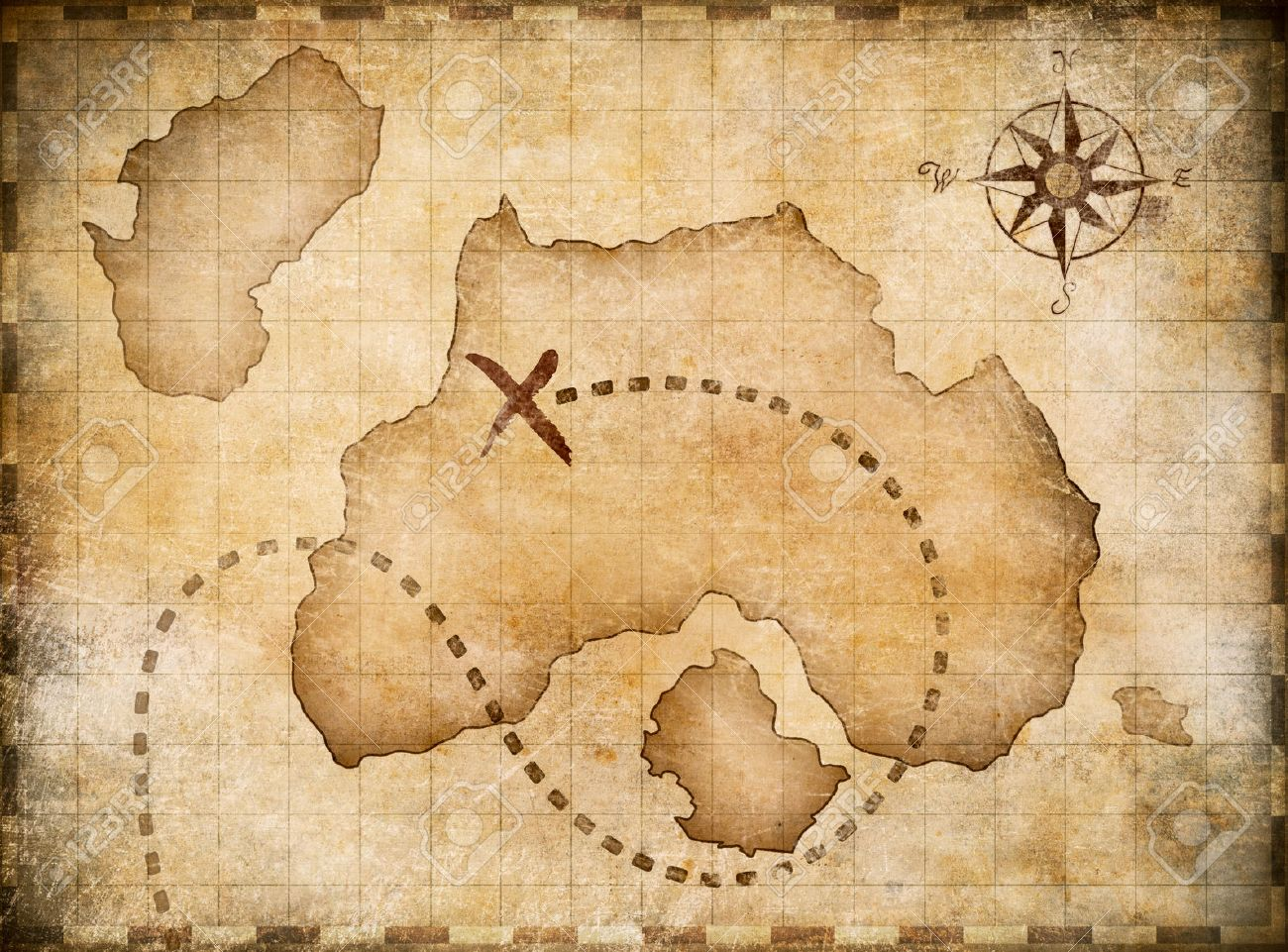 pirates map with marked treasure location. cross map stock photos royalty free cross map images and pictures