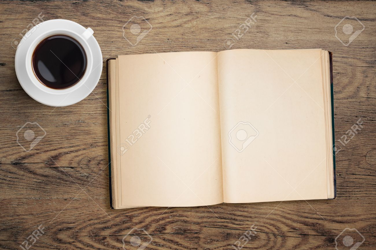 Open book and coffee top view on table stock photo picture and open book and coffee top view on table stock photo 33153375 geotapseo Gallery
