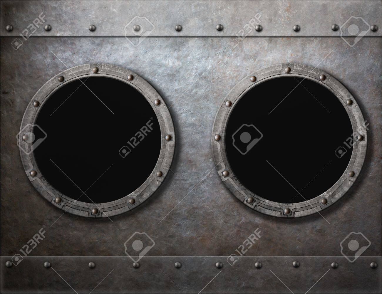 Submarine or old ship two portholes metal frames background stock submarine or old ship two portholes metal frames background stock photo 36628596 jeuxipadfo Image collections
