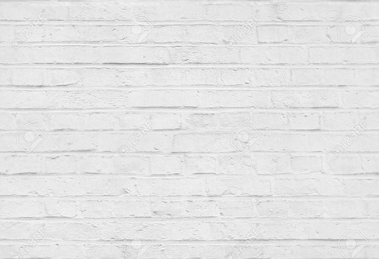 Plain wood table with hipster brick wall background stock photo - White Wall Seamless White Brick Wall Pattern Texture Background