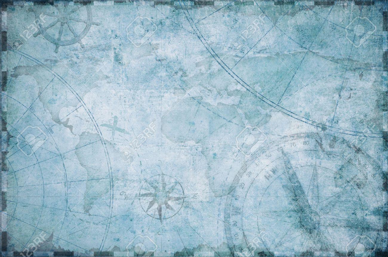 old nautical treasure map background - 70306305
