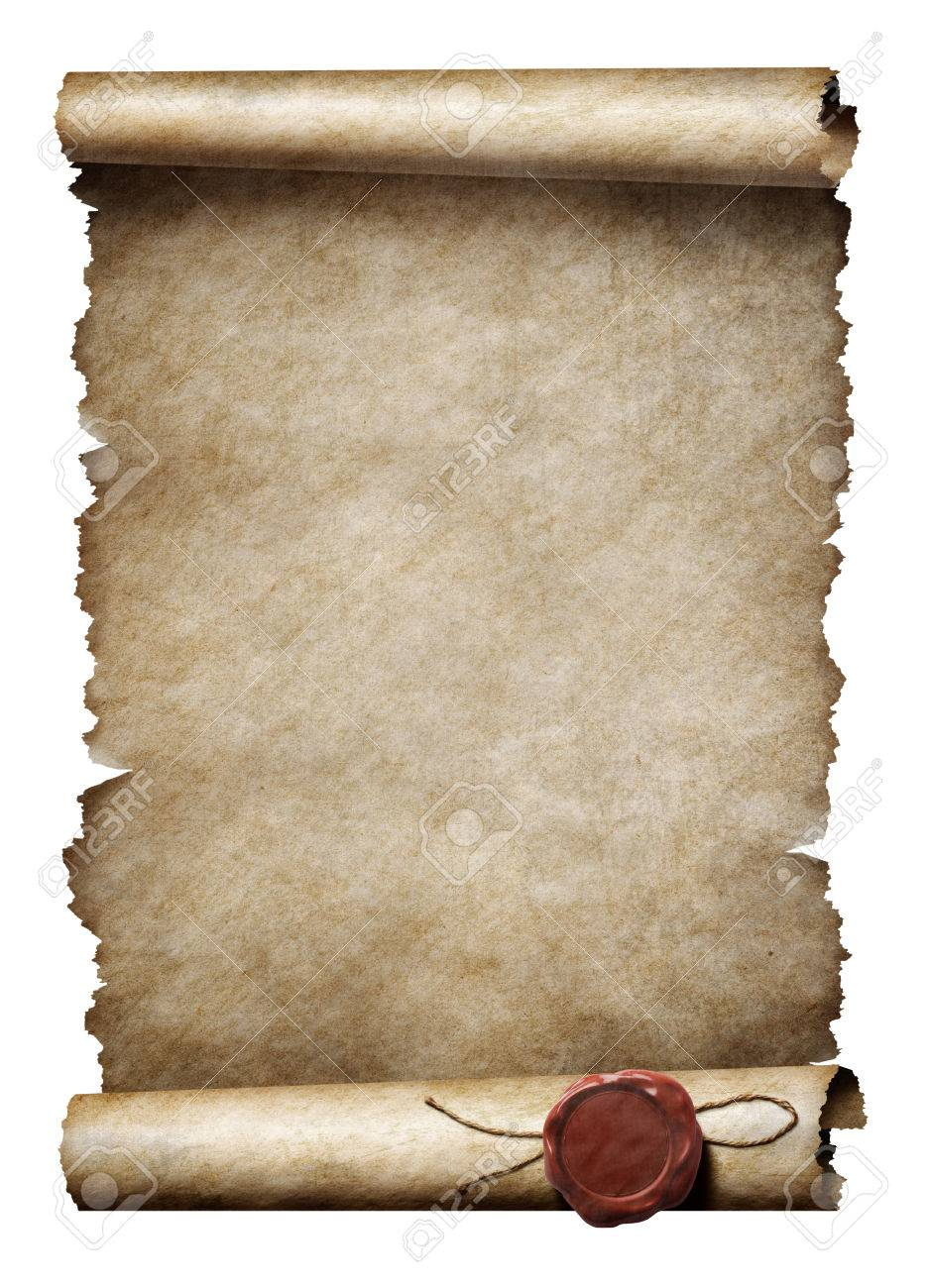 old parchment scroll with wax seal stock photo picture and royalty