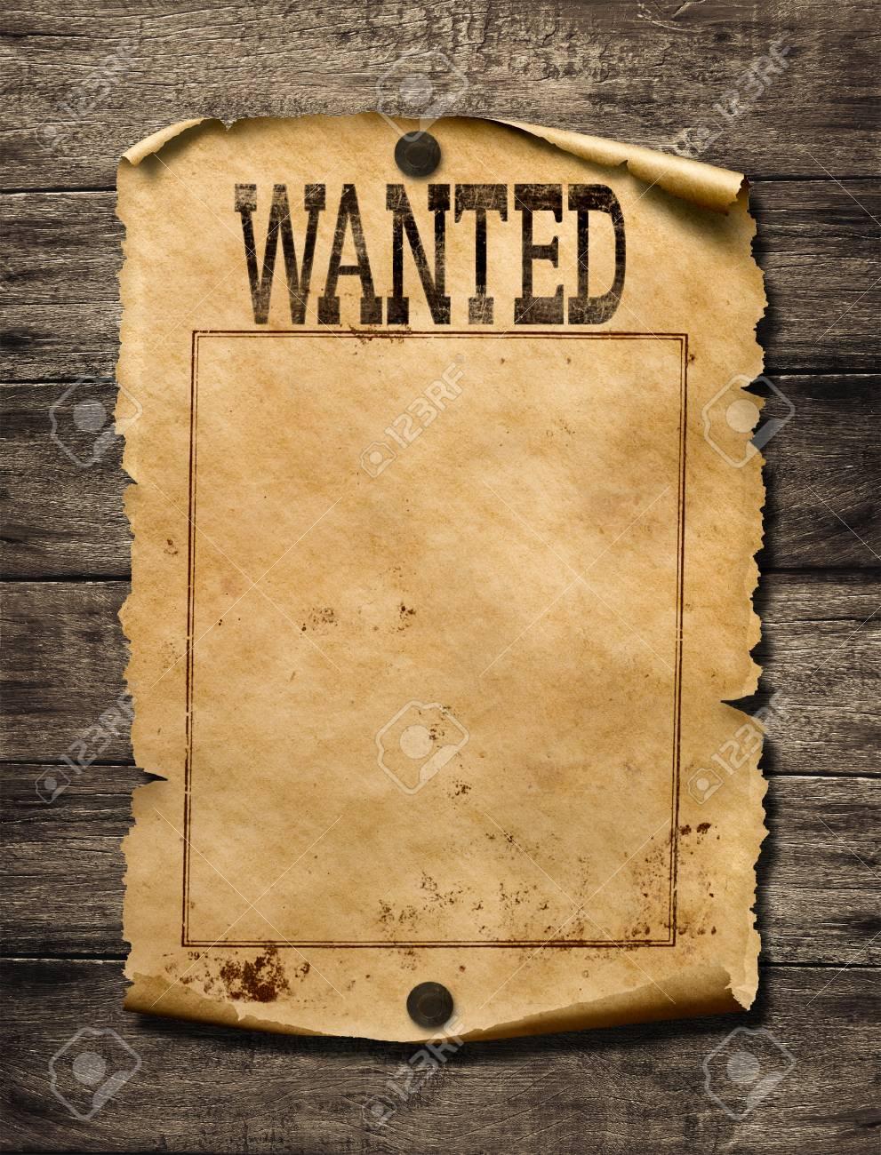 Wanted for reward poster 3d illustration - 75745859
