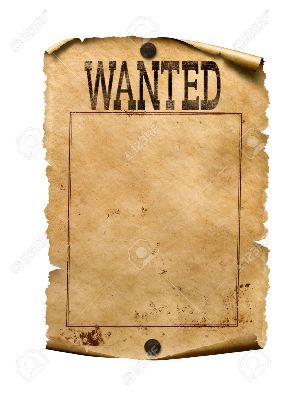 Wollte Für Belohnung Plakat 3d Illustration Isoliert Lizenzfreie