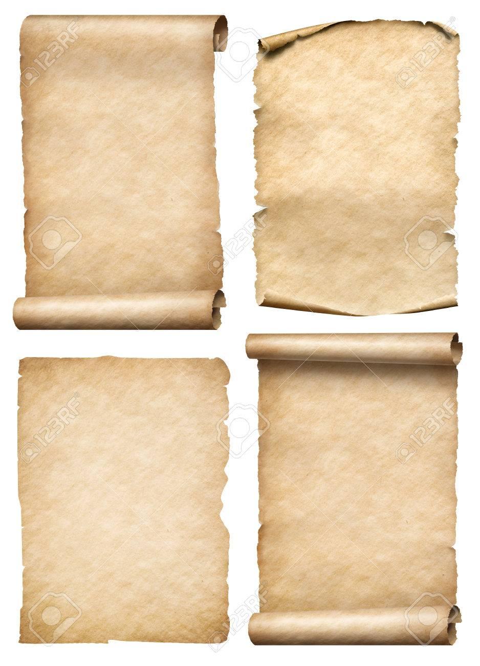 古い紙の巻物や羊皮紙設定臨場 3 D イラスト の写真素材画像素材 Image