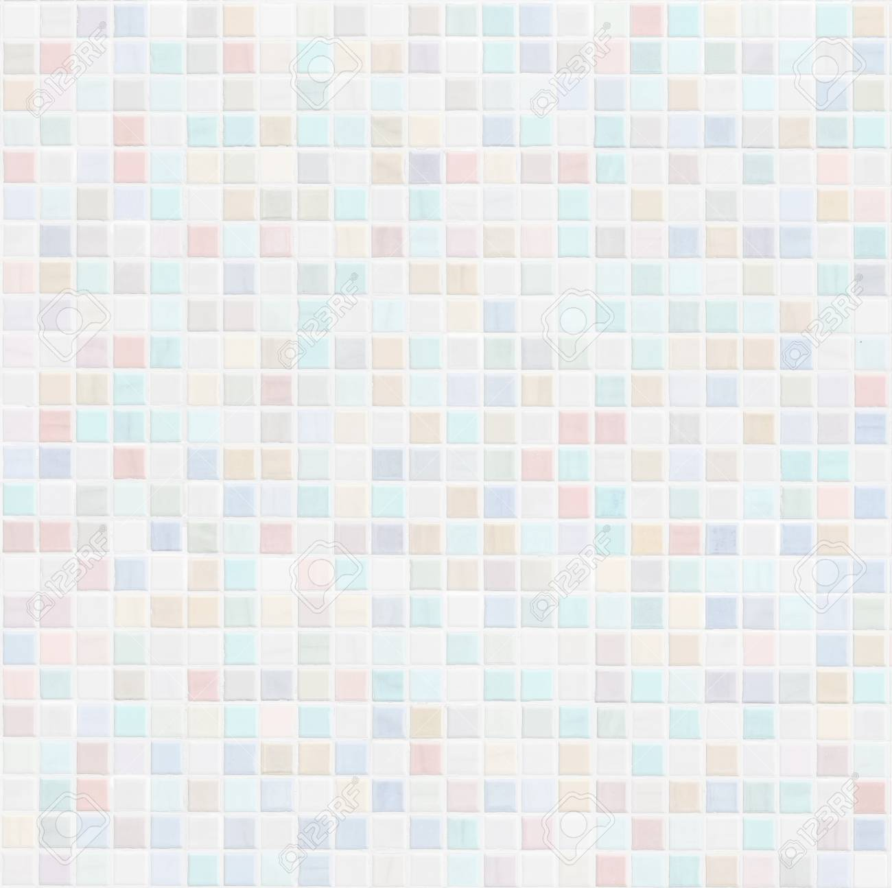 pastel colored ceramic bathroom or kitchen tile wall - 79280084