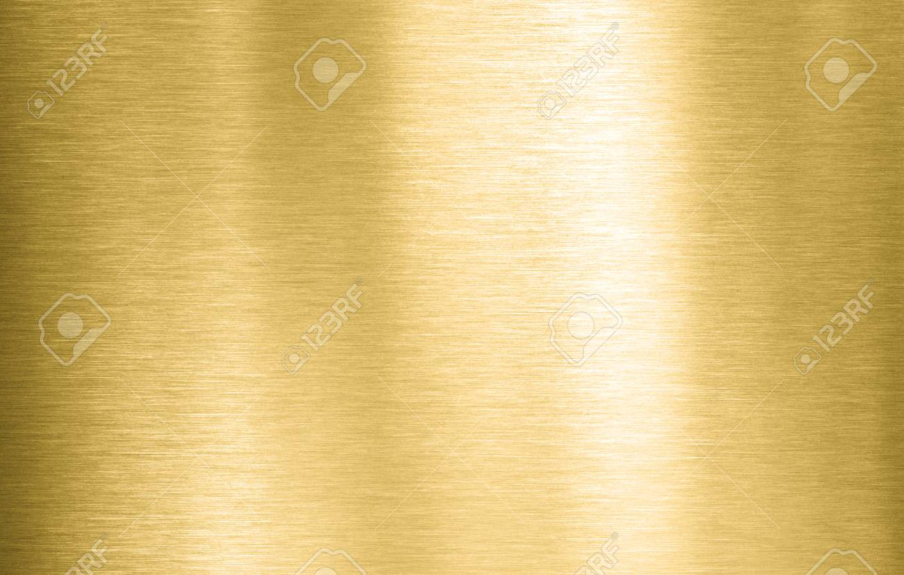 Gold metal brushed plate or texture - 121887977