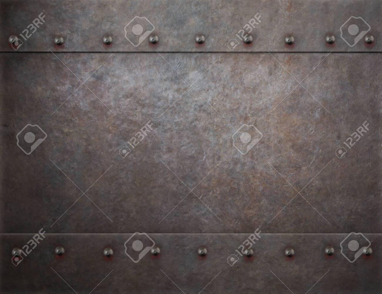 rustic rivets metal background 3d illustration - 131531037