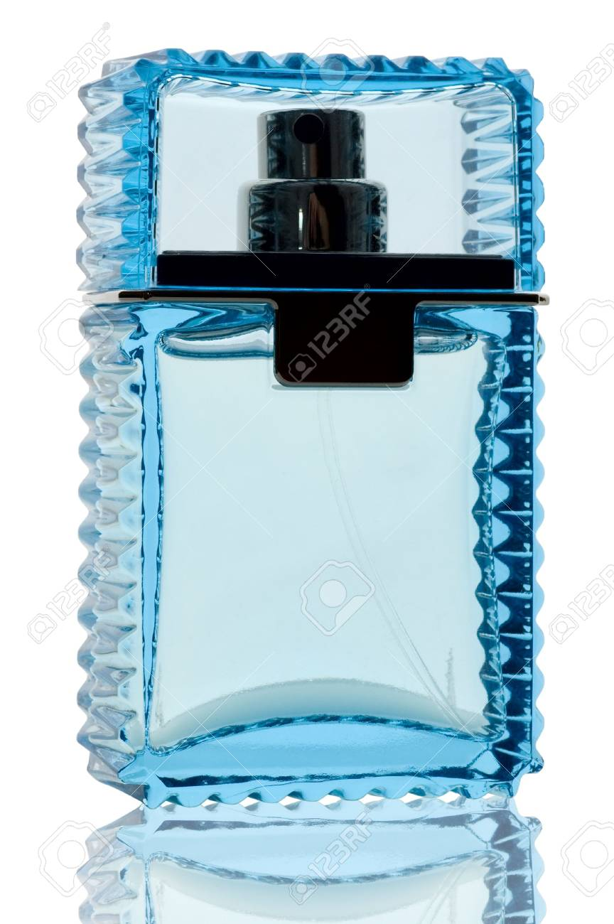 Blanc De Bleu Avec Parfum Fond Réflexion Sur Bouteille OuXZwPkiTl