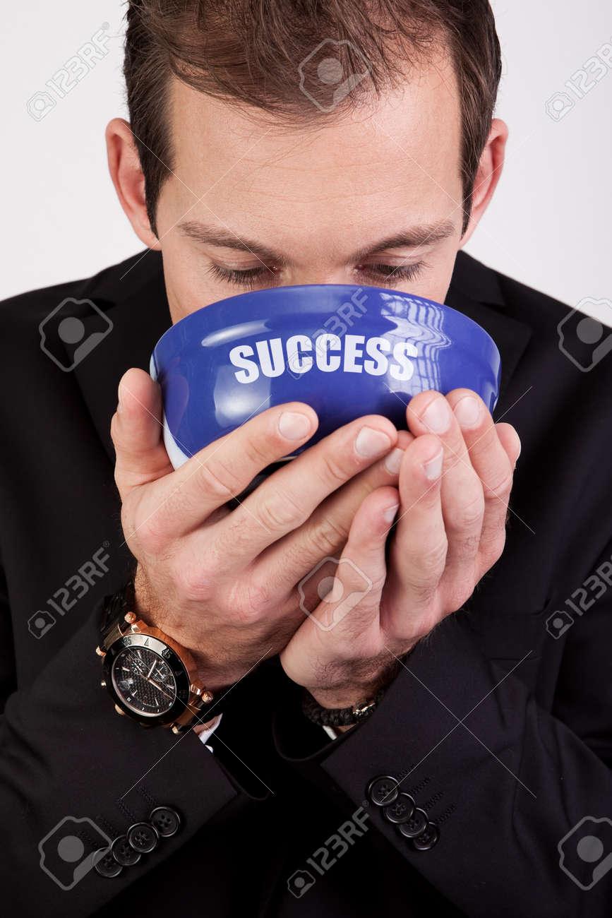 Businessman enjoying success Stock Photo - 8559409