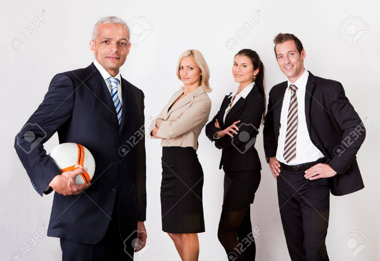 Strong competitive business team Stock Photo - 8628320