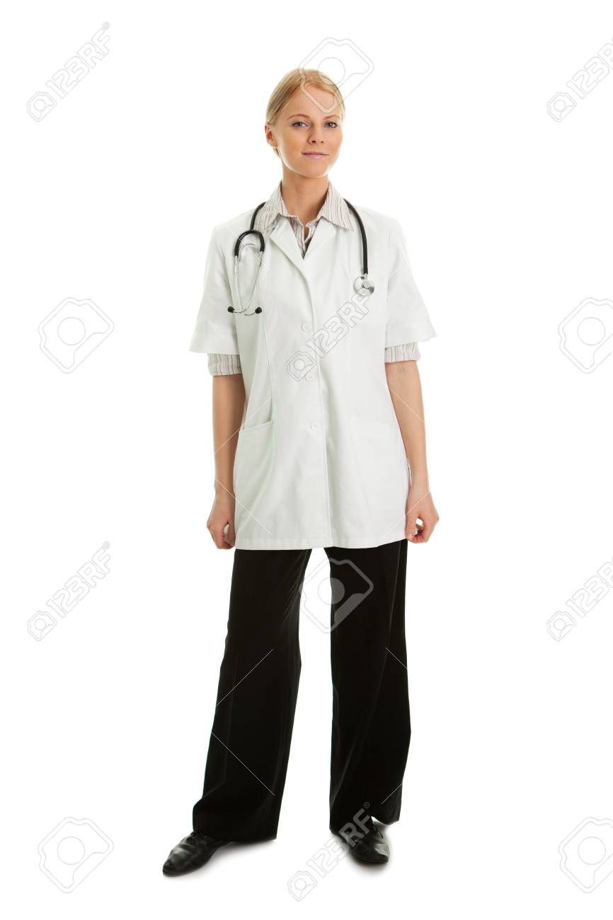 Smiling medical doctor woman with stethoscope Stock Photo - 8858201