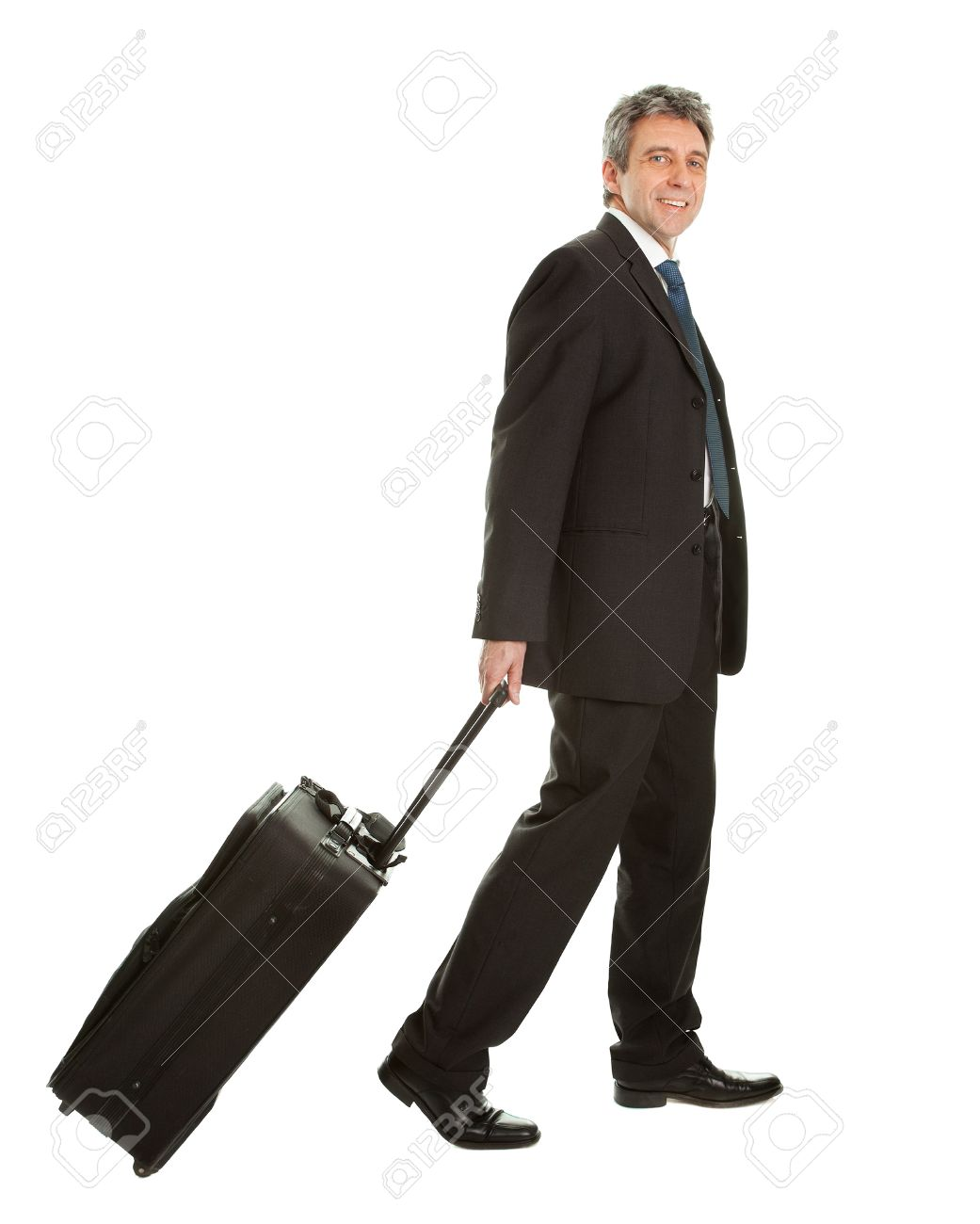 Senior Businessmen With Travel Bag Stock Photo Picture And Royalty