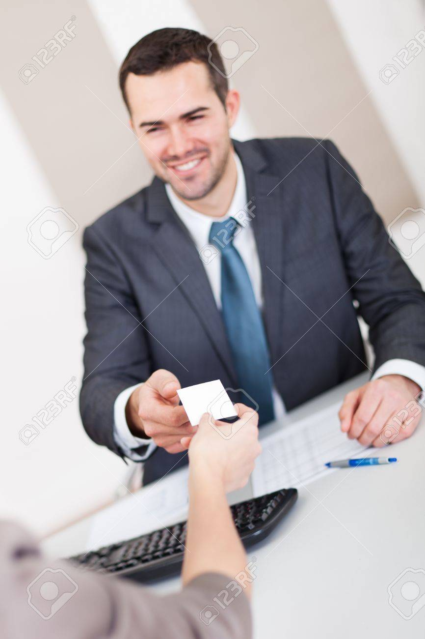 Young businessman at the hiring interview in the office Stock Photo - 13020789