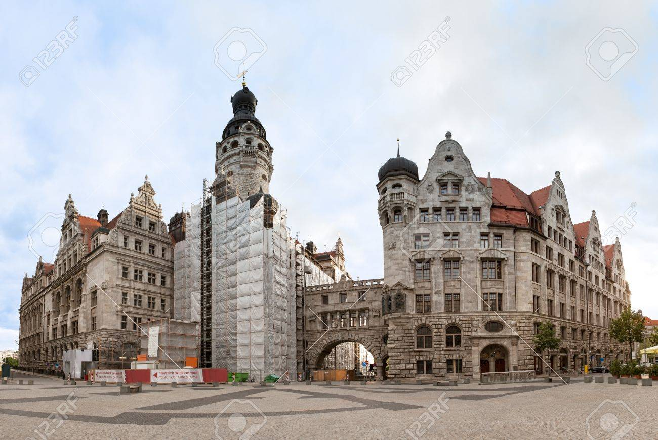 Neues Rathaus New Town Hall In Leipzig Germany Stock Photo Picture And Royalty Free Image Image 14183881
