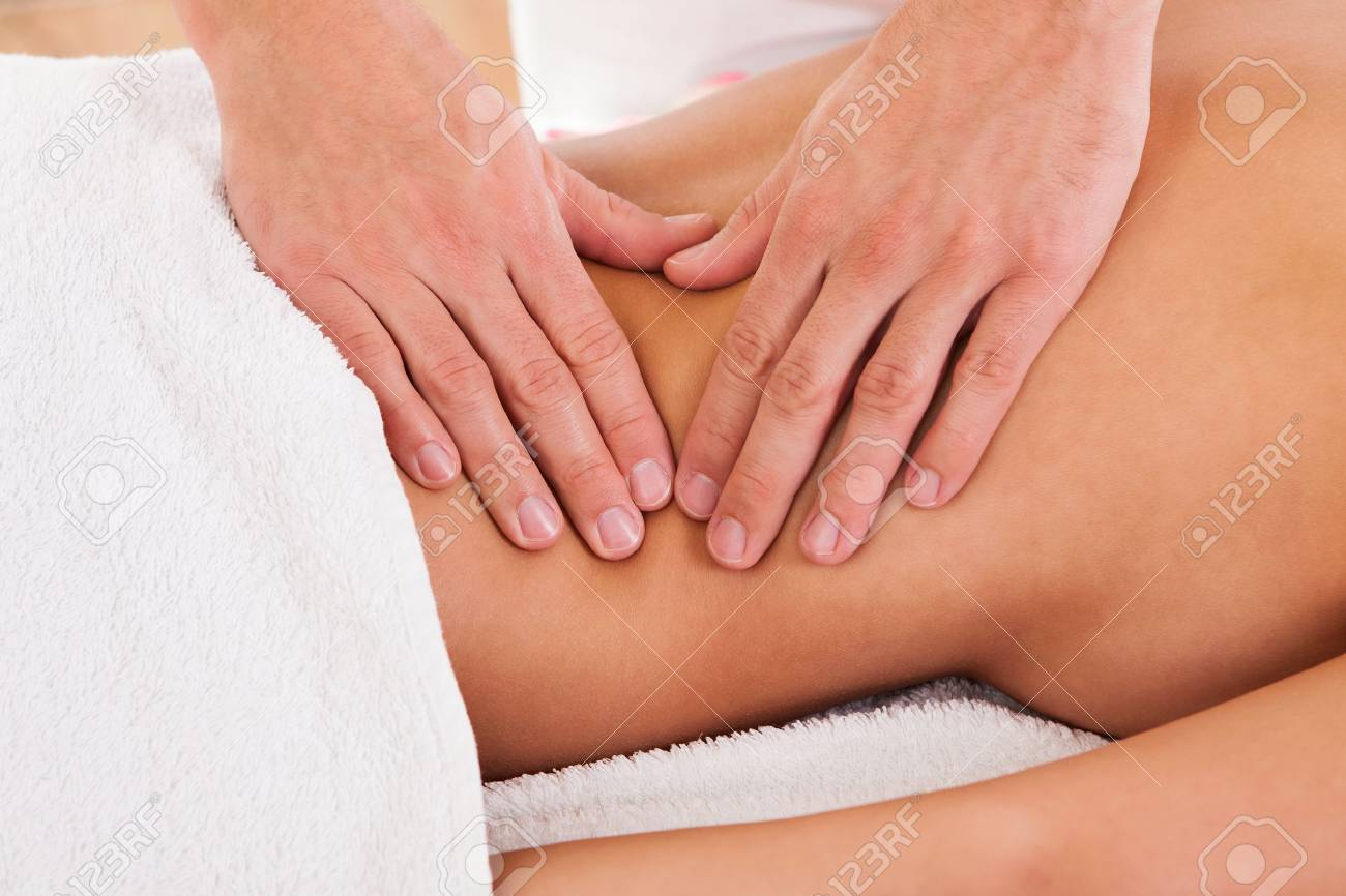 Client relaxing in massage at the spa Stock Photo - 16522091