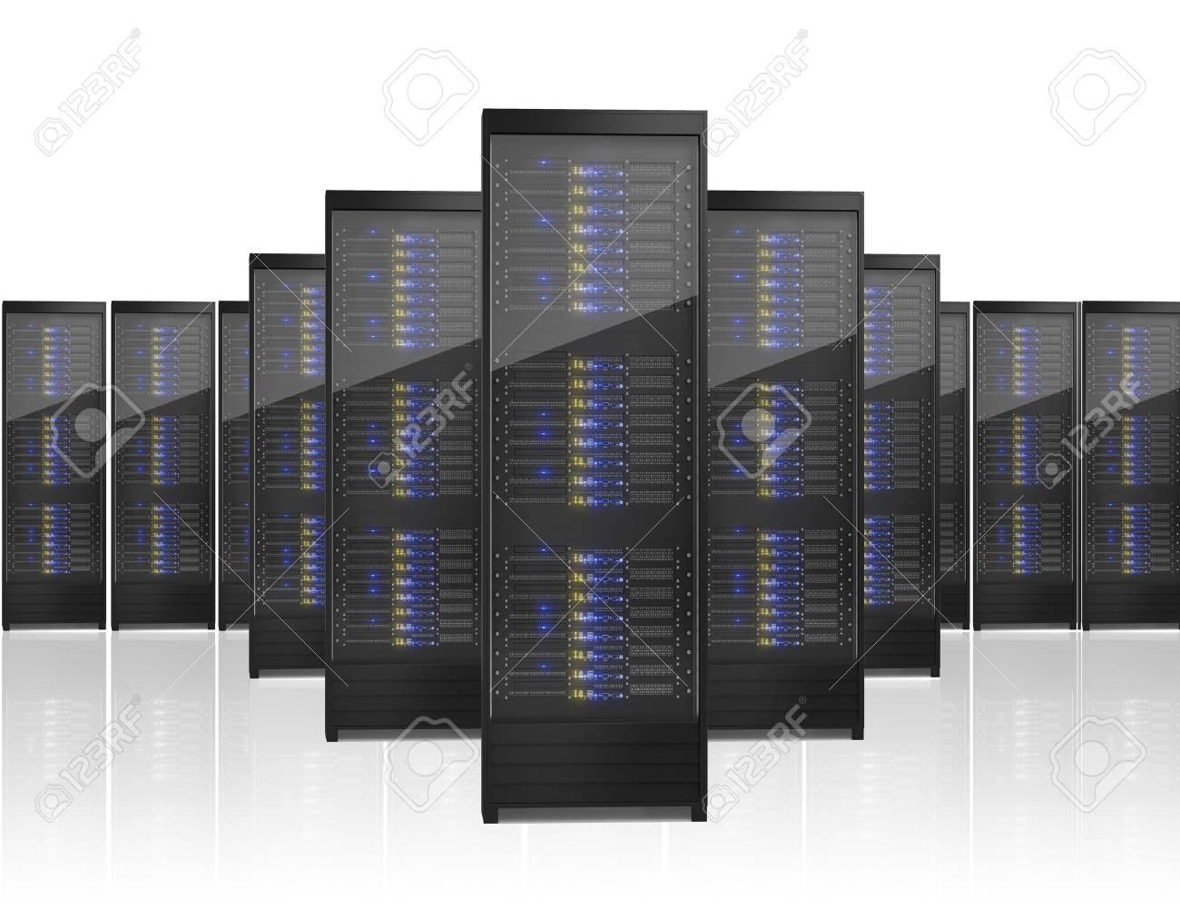 Image of many server racks. Isolated on white background Stock Photo - 17712304