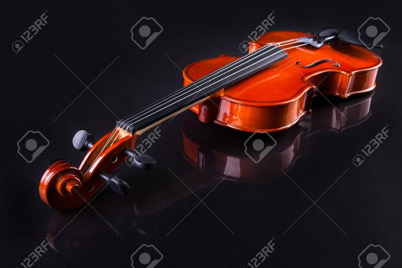 Close-up Of Vintage Violin Over Black Background Stock Photo - 18579866