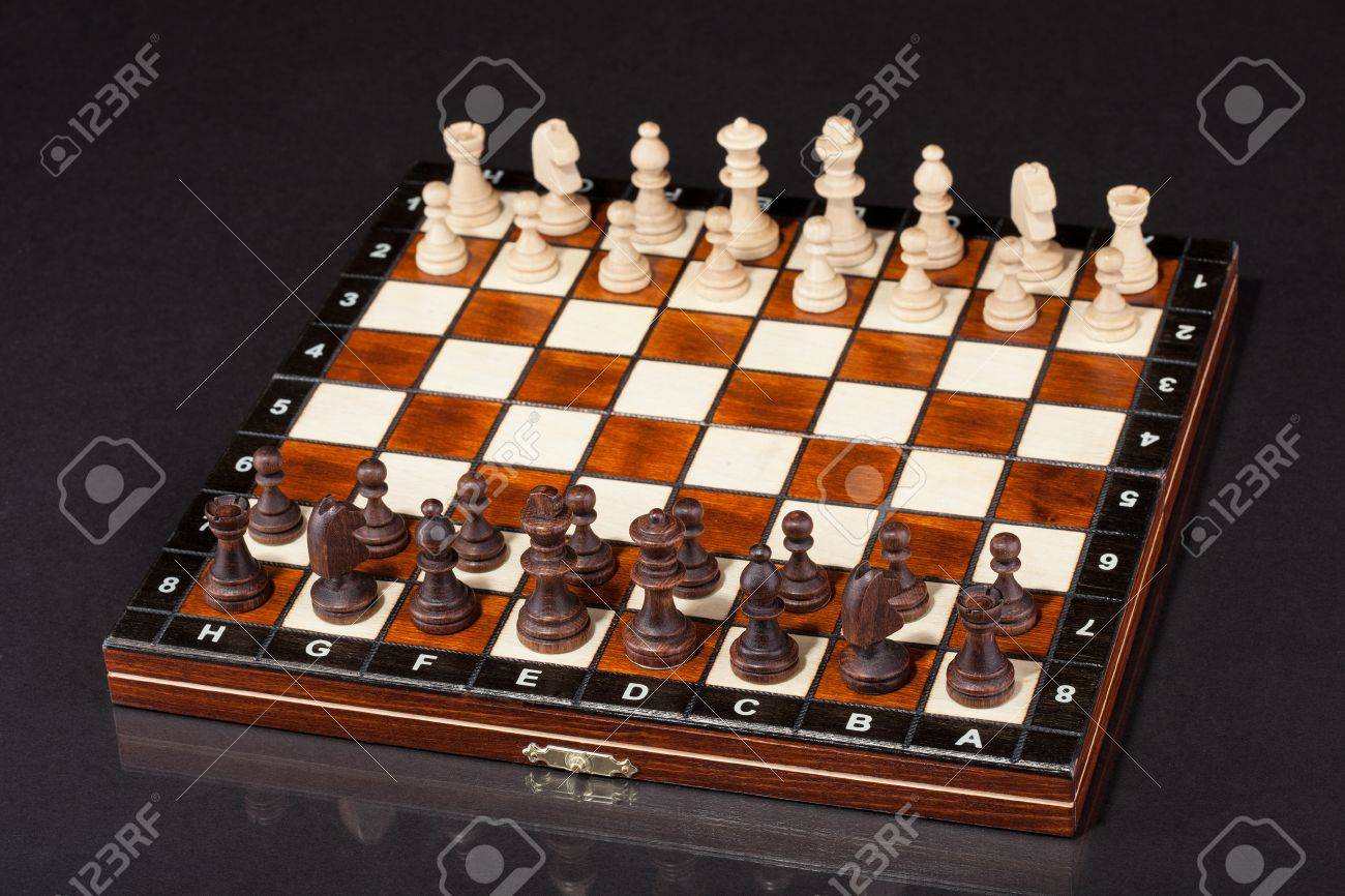 Close-up Shot Of Chess Board And Figures Stock Photo - 18909529