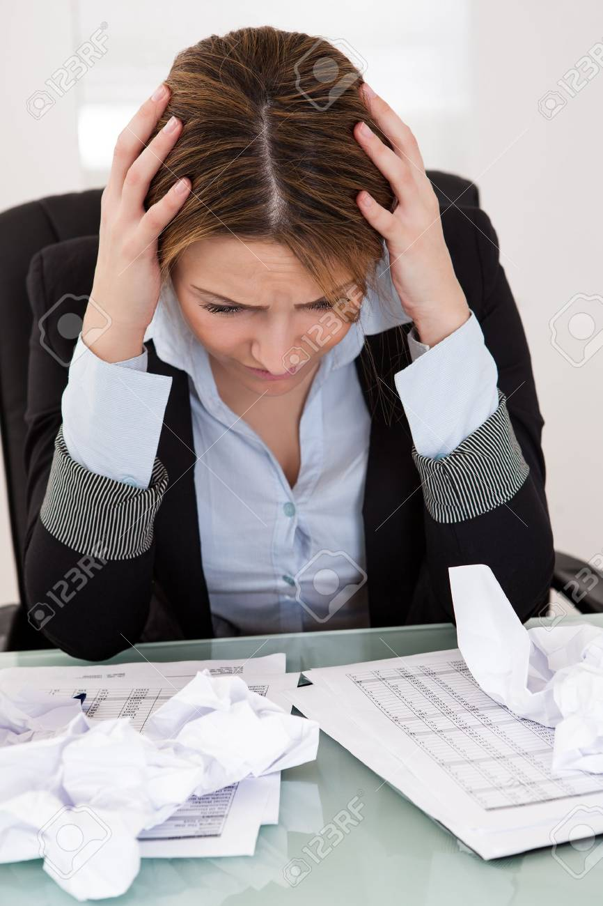 Portrait Of Frustrated Businesswoman In The Office Stock Photo - 18907238