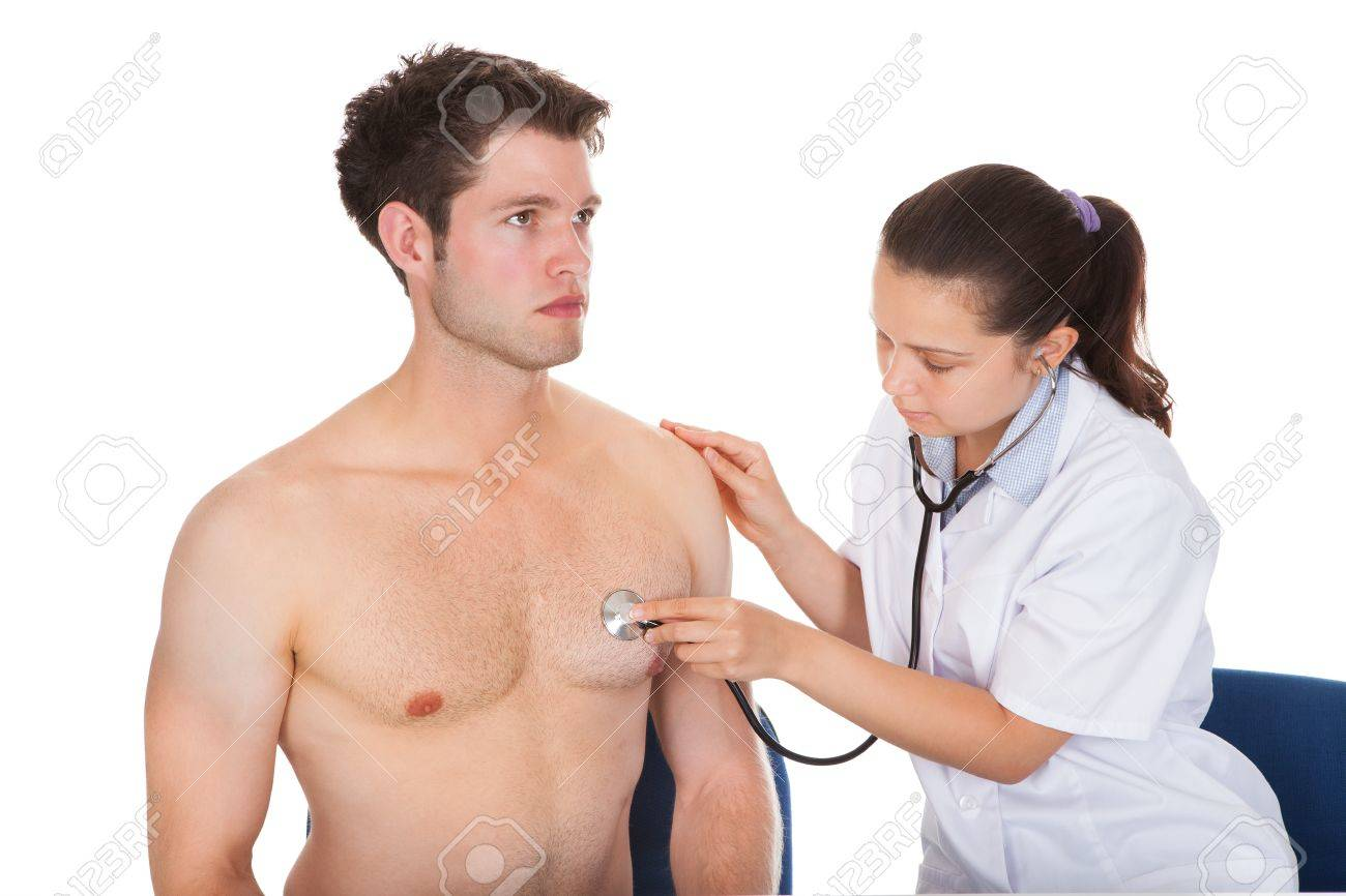 Doctor Listening to Heart Doctor Listening Heartbeat of
