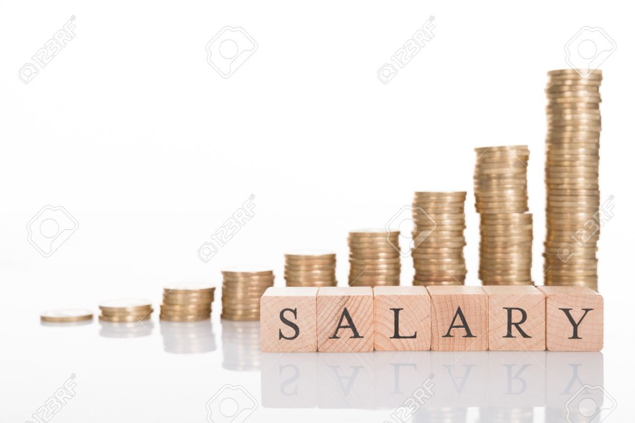 salary increase chart isolated on white background stock photo salary increase chart isolated on white background stock photo 32705844