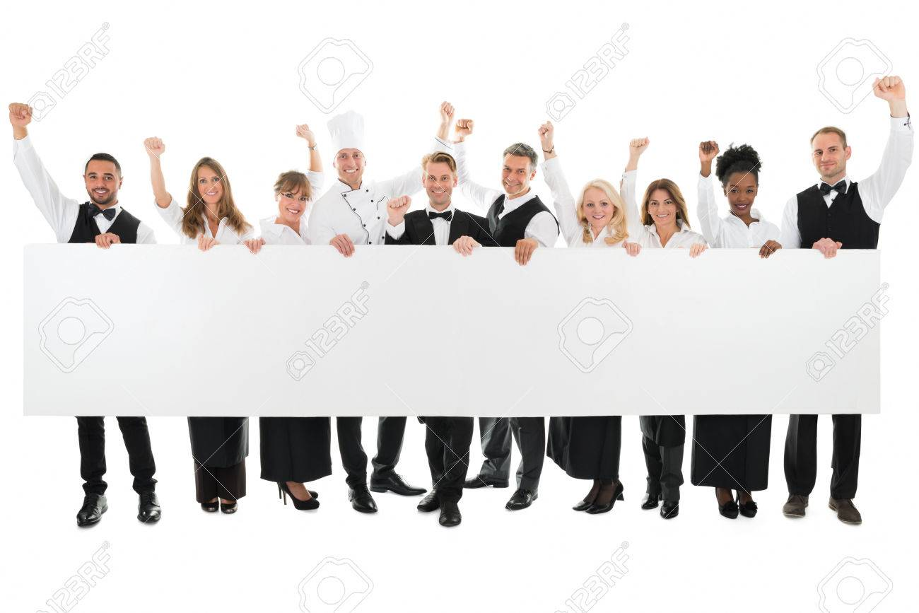 Restaurant Background With People restaurant staff group stock photos & pictures. royalty free