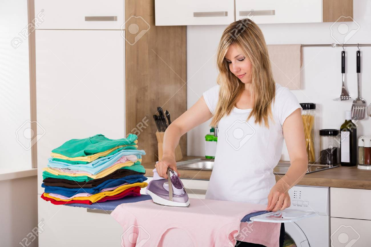 TRACI: Ironing clothes