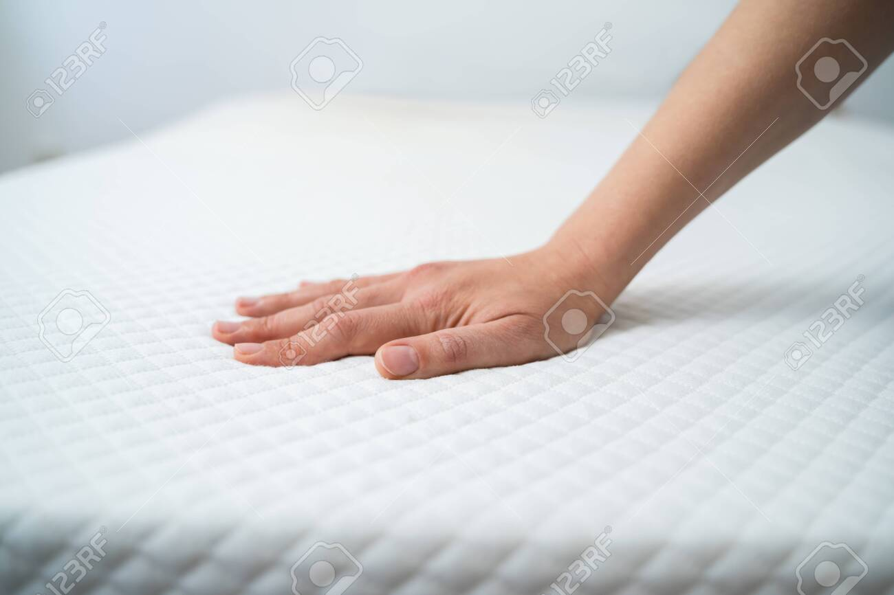 Hand Testing Orthopedic Memory Foam Core Mattress - 137275504
