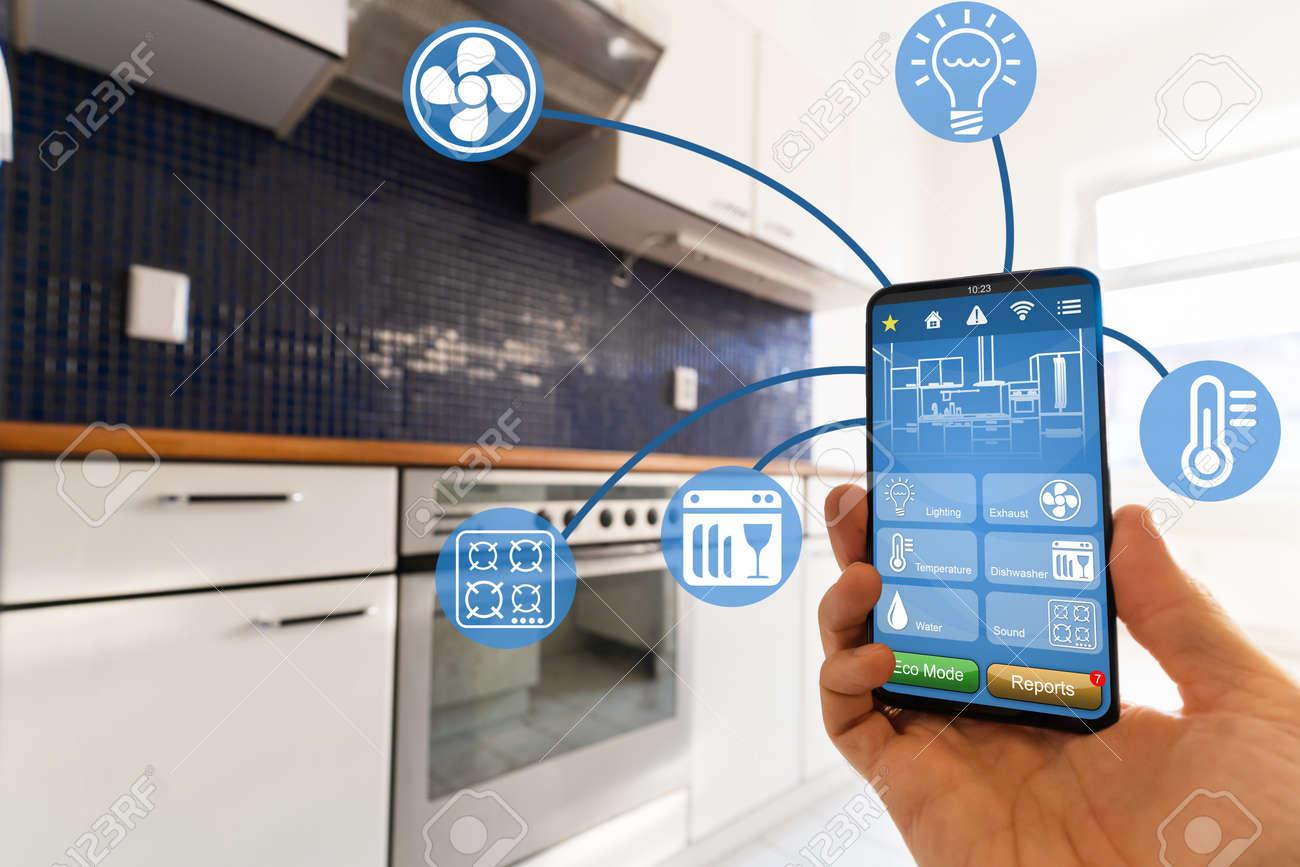 Smart Kitchen Home Automation Control Tech Features - 157431246