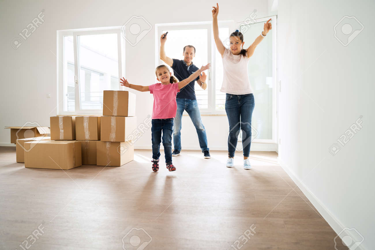 Couple Bying Home And Moving Into New House - 158459954