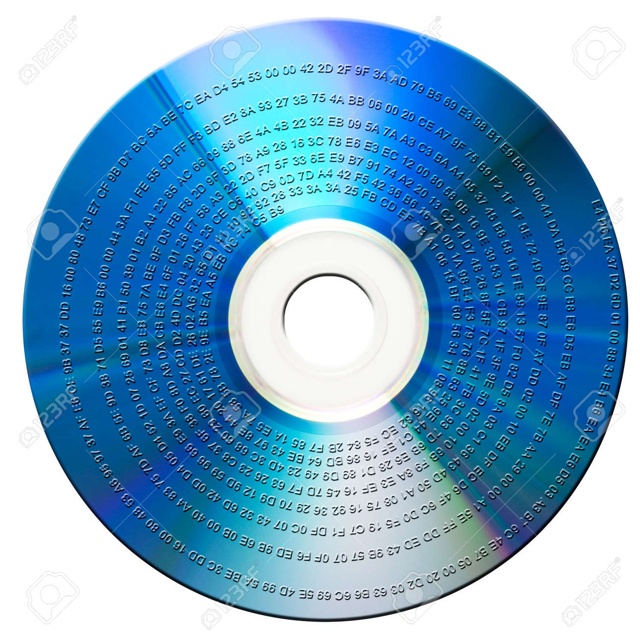 Binary data on blue-ray disk. Isolated Stock Photo - 2639301