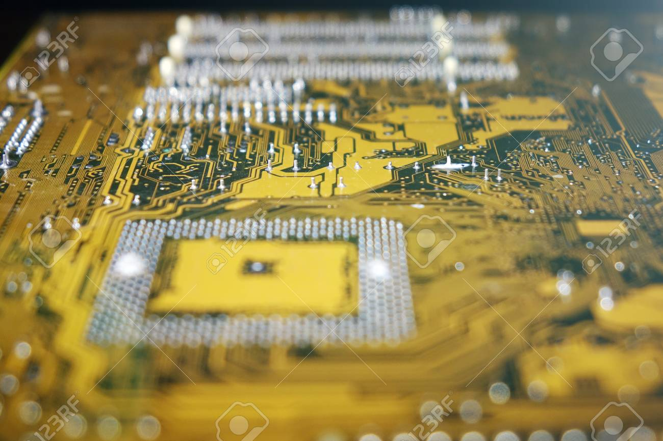 Computer Circuit Board Electronic Technology Stock Photo Picture With Electronics Components Royalty Free 94353744